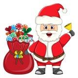 Santa claus for christmas cartoon Stock Photos