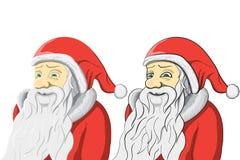 Santa Claus-reeks op witte achtergrond wordt geïsoleerd die Stock Foto's