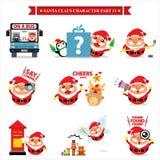 Santa Claus-reeksen Stock Afbeeldingen