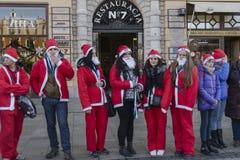 Santa Claus, registro de guinness Fotos de Stock Royalty Free
