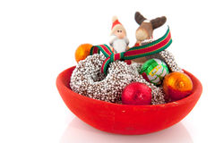 Santa Claus and reindeer Royalty Free Stock Image