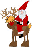 Santa Claus Reindeer Stock Photo