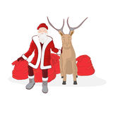 Santa Claus with reindeer Royalty Free Stock Photography