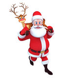 Santa claus and reindeer Royalty Free Stock Photography