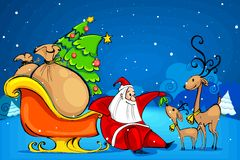 Santa Claus with Reindeer Stock Photos