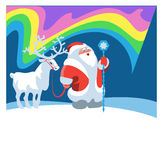 Santa Claus and reindeer Stock Image