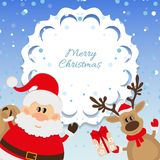 Santa Claus and reindeer background for Christmas Royalty Free Stock Image