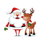 Santa Claus with reindeer Royalty Free Stock Photo