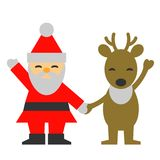 Santa Claus reindeer, hold hands Stock Images