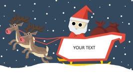 Santa Claus and Reindeer Stock Photo