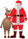 Santa Claus and Reindeer Illustration Stock Photo