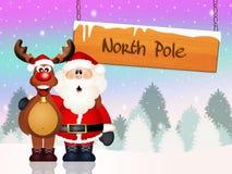 Santa Claus and reindeer Royalty Free Stock Photos