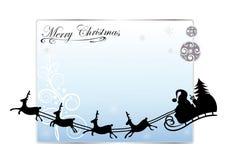 Santa claus, reindeer Stock Photo