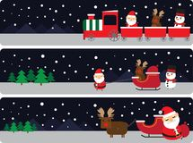 Santa claus and reindeer vector illustration
