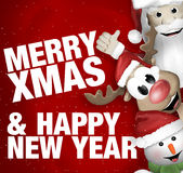 Santa Claus Reindeer Snowman Royalty Free Stock Photos
