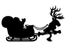 Santa Claus and reindeer. Royalty Free Stock Photos
