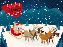 Santa claus and reindeers Royalty Free Stock Photos