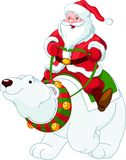 Santa Claus relaxing on the beach Royalty Free Stock Photos