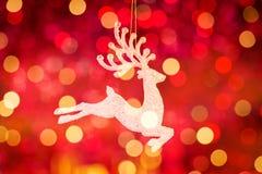 Santa Claus ren Rudolph Arkivbild