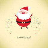 Santa Claus for retro card Stock Image