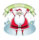 Santa Claus with ribbon Royalty Free Stock Photos