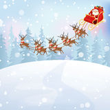 Santa Claus rider rensläden Fotografering för Bildbyråer