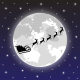 Santa claus rides on deer Royalty Free Stock Image