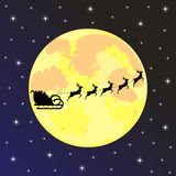 Santa claus rides on deer Royalty Free Stock Photo