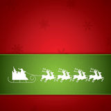 Santa Claus rides in a reindeer sleigh Royalty Free Stock Images
