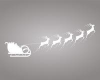 Santa Claus rides in a sleigh Royalty Free Stock Photos