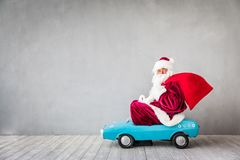 Santa Claus. Riding car. Christmas Xmas holiday concept stock photo