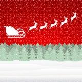 Santa Claus riding on a reindeer Stock Photography