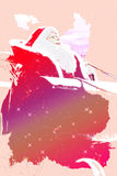 Santa Claus riding a sled illustration. Detail of Santa Claus riding a sled - Illustration stock illustration