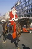 Santa Claus Riding un caballo, Washington, D C foto de archivo libre de regalías