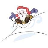 Santa Claus ridning Royaltyfri Bild