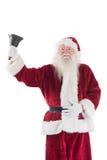 Santa Claus ringer hans klocka Royaltyfri Bild