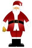 Santa Claus Ringing Bell Isolated on White. Santa Claus Ringing Bell Colored Clipart Isolated on White Background Illustration Stock Photo