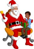 Santa With Happy Kid Royalty Free Stock Images
