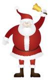 Santa Claus Ringing Golden Bell Illustration Photos stock