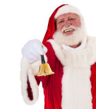 Santa Claus rings the bell Royalty Free Stock Image