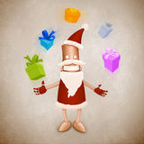 Santa Claus robot juggler Royalty Free Stock Photography