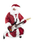 Santa Claus rock jump Royalty Free Stock Photos