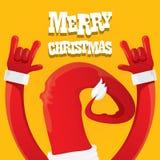 Santa Claus rock n roll gesture icon vector Stock Image