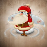 Santa Claus rocket Stock Photos