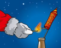 Santa Claus rocket Stock Images