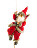 Santa Claus on rope. Santa Claus hanging from a rope Stock Photography