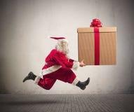 Santa Claus rápida Imágenes de archivo libres de regalías