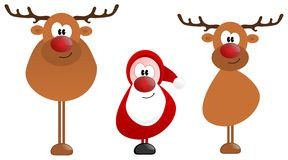 Santa Claus and Rudolph Royalty Free Stock Photography
