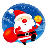 Santa Claus and Rudolph mascot the event activity Royalty Free Stock Photos