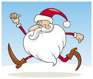 Santa claus running Stock Photos
